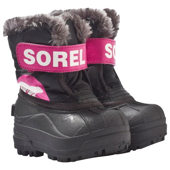 Sorel Toddler Snow Commander™ Black, Haute Pink Black, Haute Pink