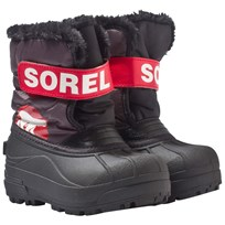 Sorel Children's Snow Commander™ Boots Dark Grey, Bright Red Dark Grey, Bright Red