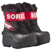 Sorel Toddler Snow Commander™ Boots Dark Grey, Bright Red Dark Grey, Bright Red