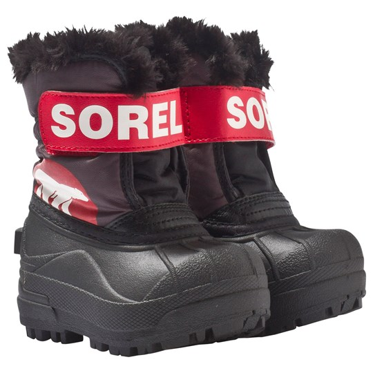 Sorel Toddler Snow Commander™ Dark Grey, Bright Red Dark Grey, Bright Red
