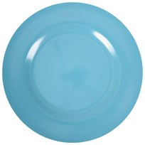Rice Melamine Round Side Plate Turquoise Turquoise
