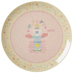 Rice Bamboo Melamine Lunch Plate Girls Cooking Print