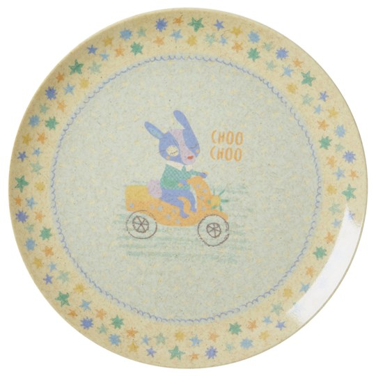 Rice Bamboo Melamine Lunch Plate Boys Race Print Race Print