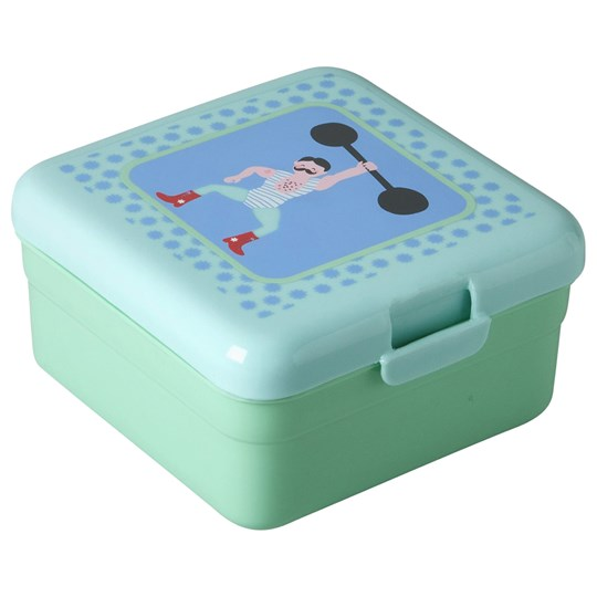 Rice Small Lunchbox Boys Circus Print Circus Print Green