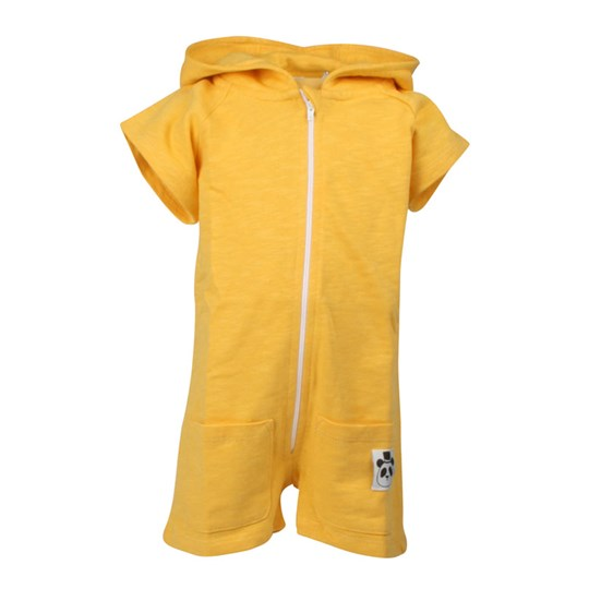 Mini Rodini Short Leg Onesie Yellow Yellow
