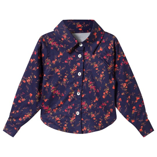 Christina Rohde Liberty Printed Blouse Navy