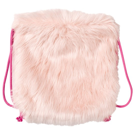 Christina Rohde Faux Fur Backpack Pink