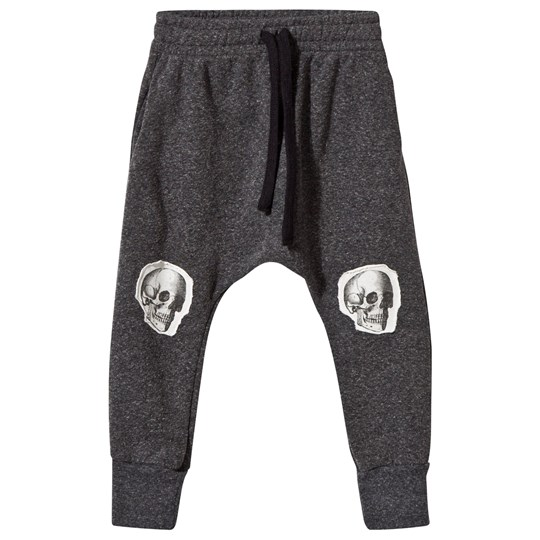 NUNUNU Skull Patch Baggy Pants Charcoal Charcoal