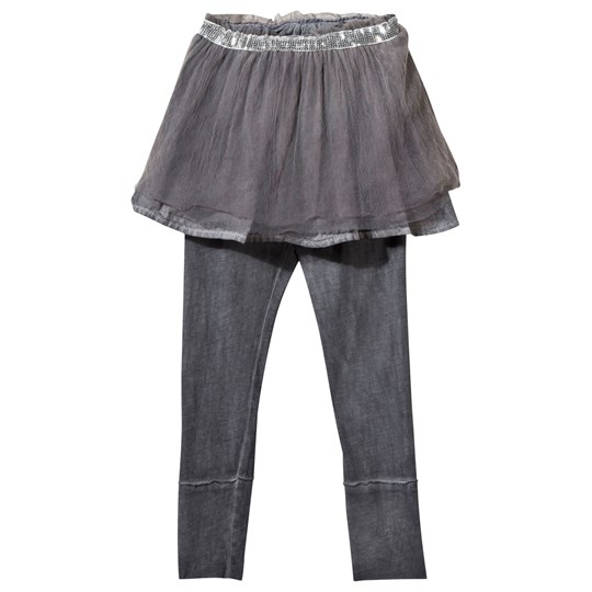 NUNUNU Tulle Leggings Skirt Dyed Grey Dyed Grey