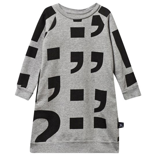 NUNUNU Punctuation A Sweat Dress Heather Grey Серый