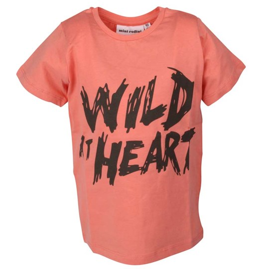Mini Rodini S/S Tee Wild at Heart Pink Pink