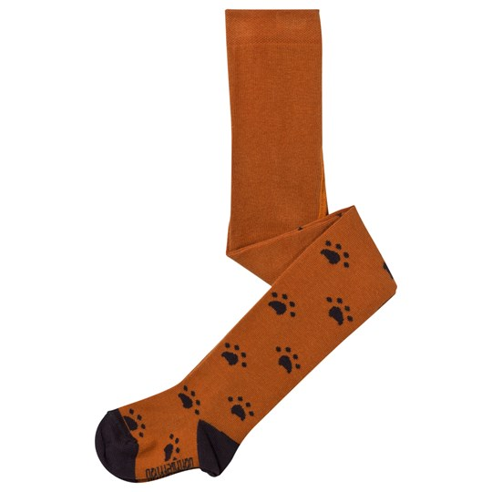 The Bonnie Mob Paw Print Tights Ginger Ginger