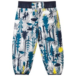 Patagonia Baby Reversable Puff-Ball Pants Pine Friends Big Epic Blue