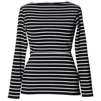 Boob Simone Top Long Sleeve Stripe Sailor Black/Pearl Stripe Sailor Black/Pearl