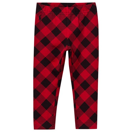 Ralph Lauren Buff Check Leggings Red/Black RED/BLACK