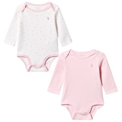 Ralph Lauren Interlock Baby Body 2-Piece Set Fresh Pink/White