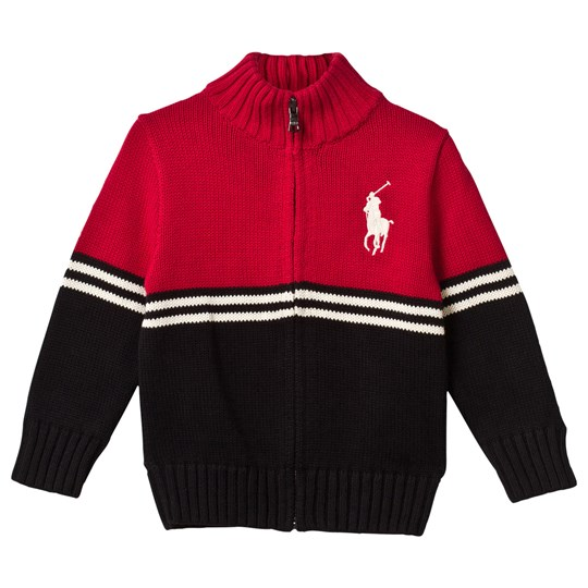 Ralph Lauren Long Sleeve Zip Sweater Martin Red Martin Red