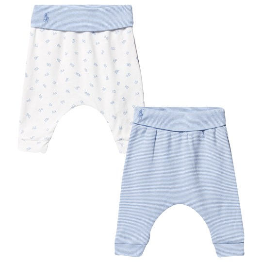Ralph Lauren Cotton Legging 2-Pack Sconset Blue/White Sconset Blue/white