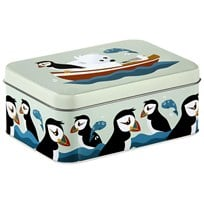 Blafre Puffin Tin Box MØRK BLÅ