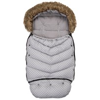 Vinter & Bloom Footmuff Mini Dots Silver Grey 100 Silver Grey