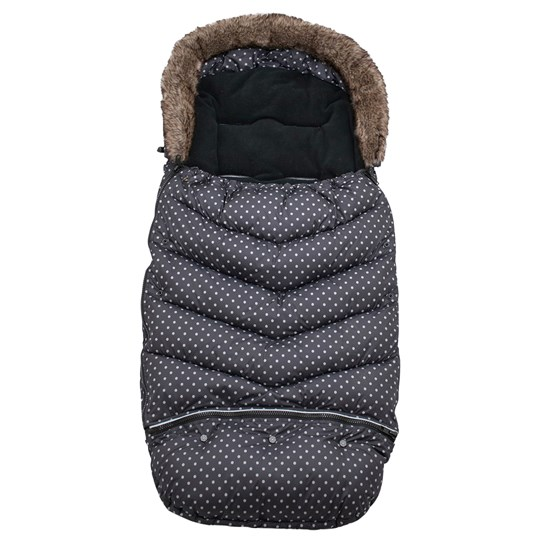 Vinter & Bloom Footmuff Mini Dots Ebony Black 100 Ebony Black