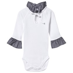 How To Kiss A Frog Body Chic White/Dk Grey Collar