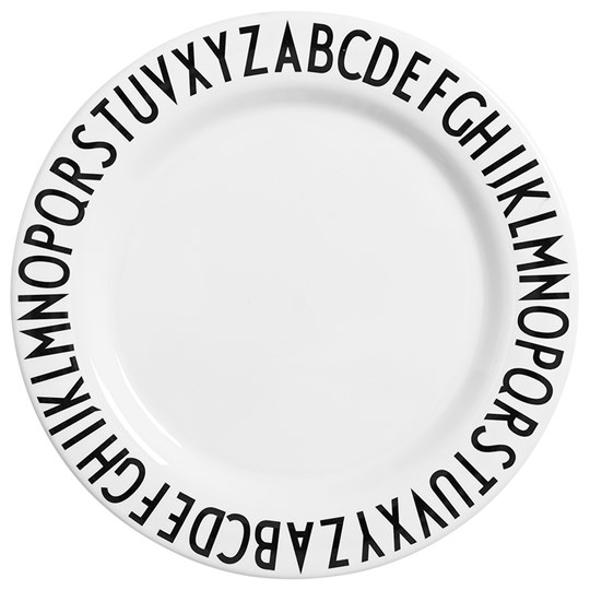 Design Letters AJ Large Melamin Dinner Plate White