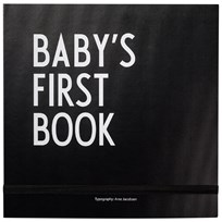 Design Letters Baby´s First Book Black Black