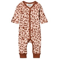 Anïve For The Minors Baby One-Piece Leo Spots ROSA/BRUN