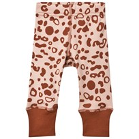 Anïve For The Minors Baby Leggings Leo Spots ROSA/BRUN
