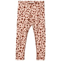 Anïve For The Minors Leggings Leo Spots ROSA/BRUN