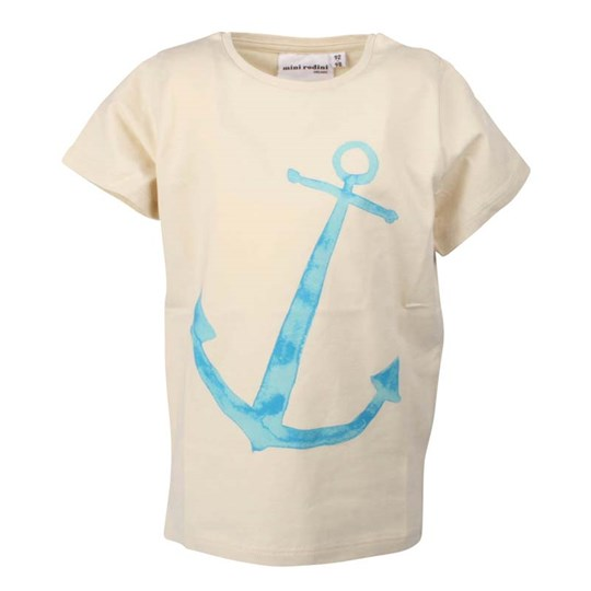 Mini Rodini S/S Tee Anchor White