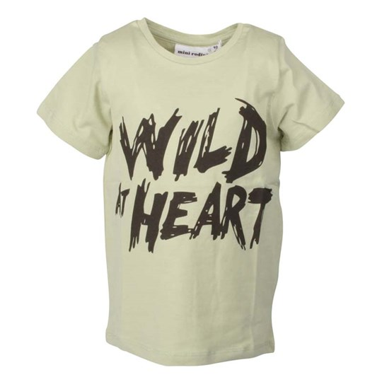 Mini Rodini S/S Tee Wild at Heart Green Green