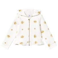 Young Versace Medusa Hoodie White Gold BIANCO-ORO