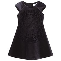 Young Versace Medusa Dress Black Blue NERO-BLU