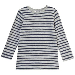 One We Like One Long Sleeve Tee Stripe Dark Blue