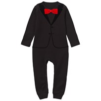 The Tiny Universe The Velvet Tuxedo Black/Red Bow ALL BLACK
