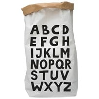 Tellkiddo ABC Paper Bag White