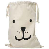 Tellkiddo Bear Fabric Bag White