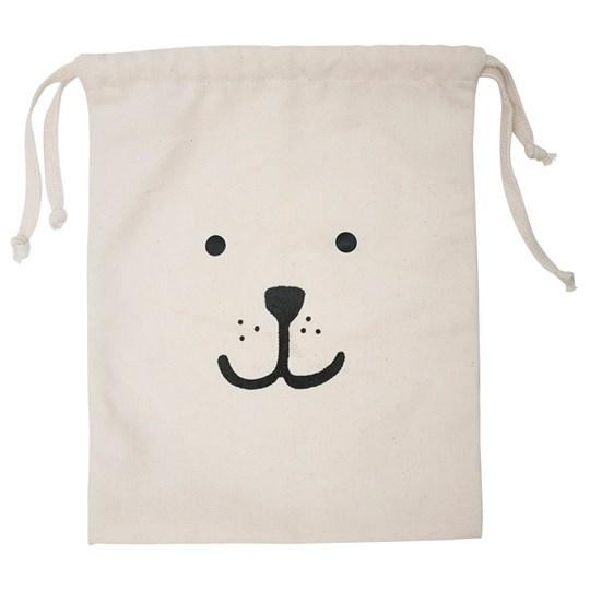 Tellkiddo Bear Small Fabric Bag White