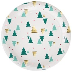 My Little Day 8 Paper Plates - Christmas Trees