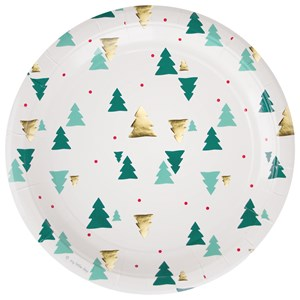 Image of My Little Day 8 Paper Plates - Christmas Trees (2743696389)