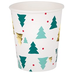 My Little Day 8 Paper Cups - Christmas Trees