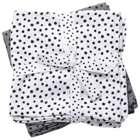 Done by Deer Swaddle 2-Pack Happy Dots Grey Black