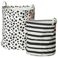 Done by Deer Soft Storage Basket 2 Pieces Black Black