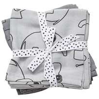 Done by Deer Burp Cloth 2 Pack Contour Grey Black