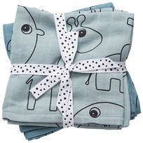 Done by Deer Burp Cloth 2 Pack Contour Blue Blue
