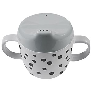 Image of Done by Deer 2-Handle Spout Cup Happy Dots Grey (3031529037)