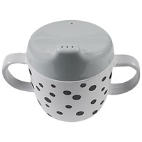 Done by Deer 2-Handle Spout Cup Happy Dots Grey Musta