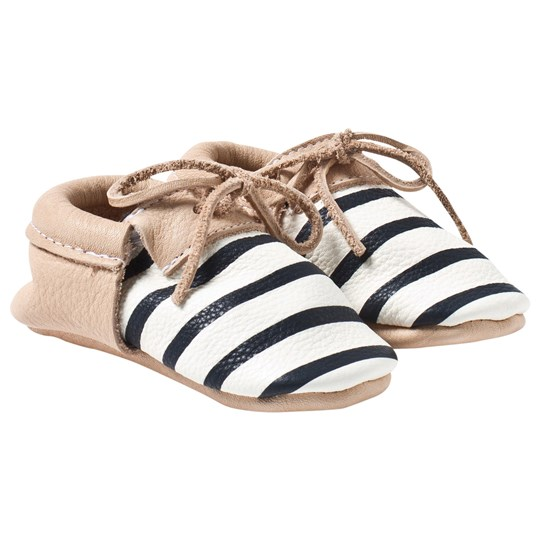 Betón Be Frank Moccasin Nude/black & white stripes